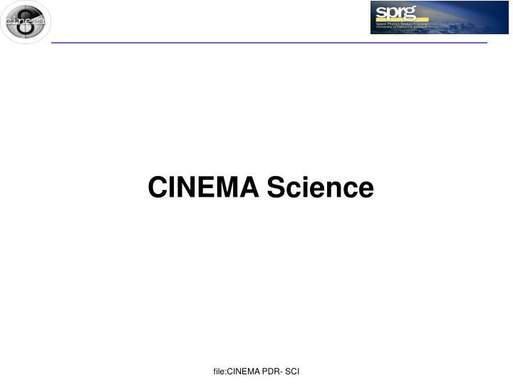 CINEMA Science