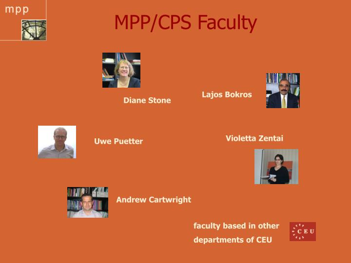 MPP/CPS Faculty