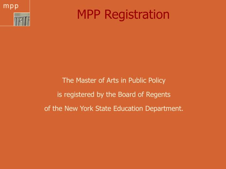 Mpp registration