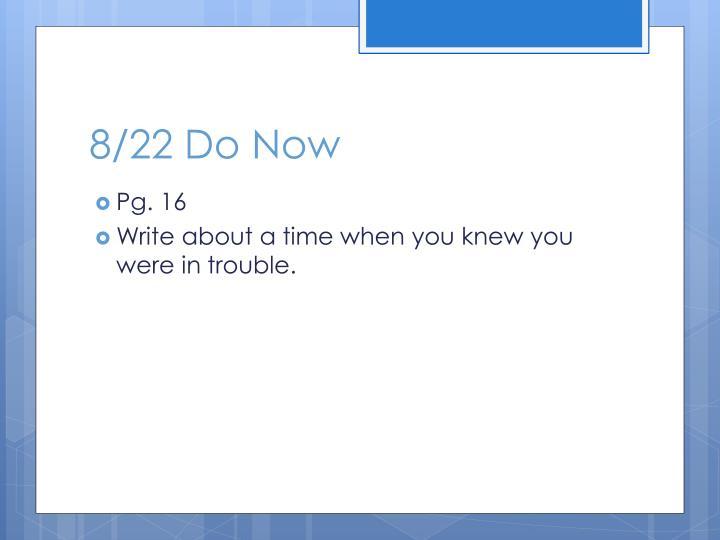 8/22 Do Now