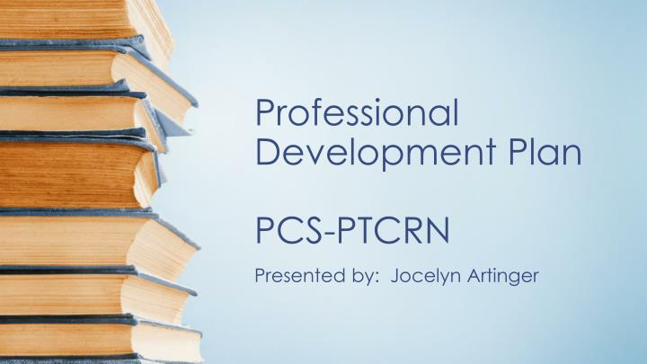 Professional development plan pcs ptcrn