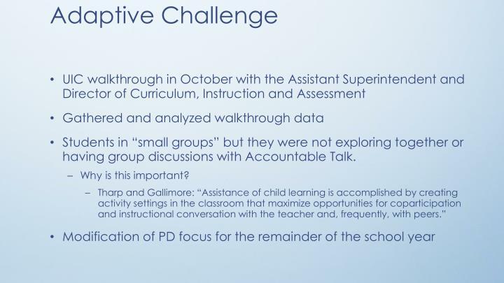 Adaptive Challenge