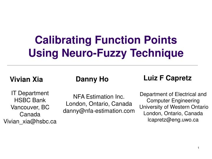 Calibrating function points using neuro fuzzy technique