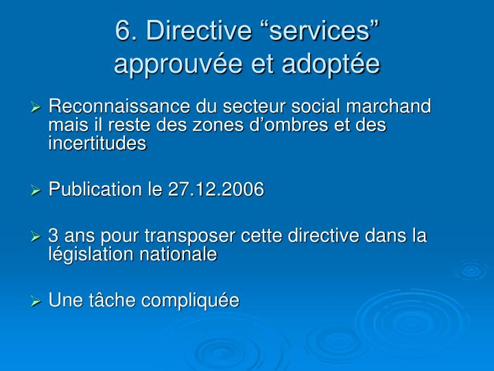 """6. Directive """"services"""""""