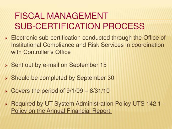 Fiscal management sub certification process1