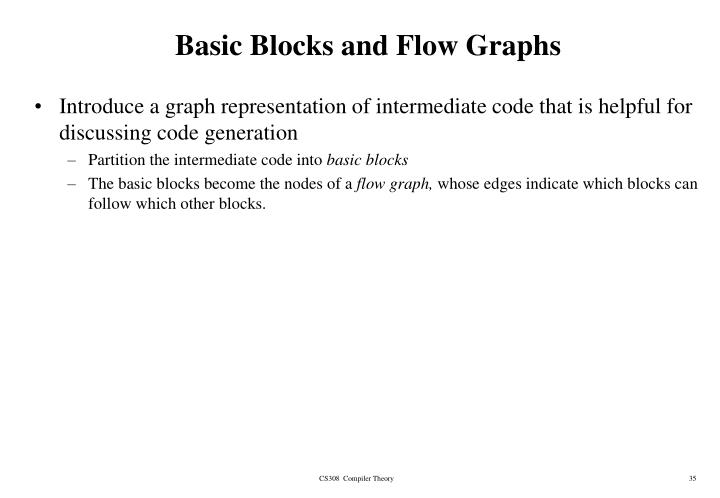 Basic Blocks and Flow Graphs