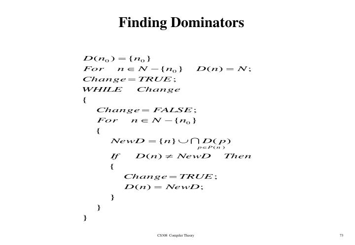 Finding Dominators