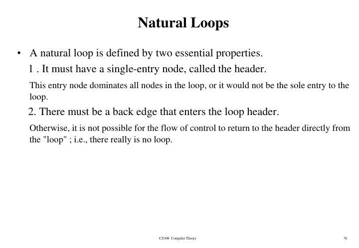 Natural Loops