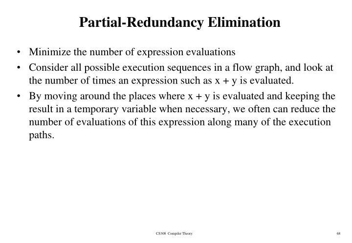 Partial-Redundancy Elimination