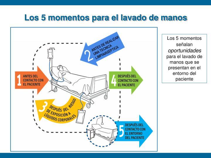 Los 5 momentos para el lavado de manos