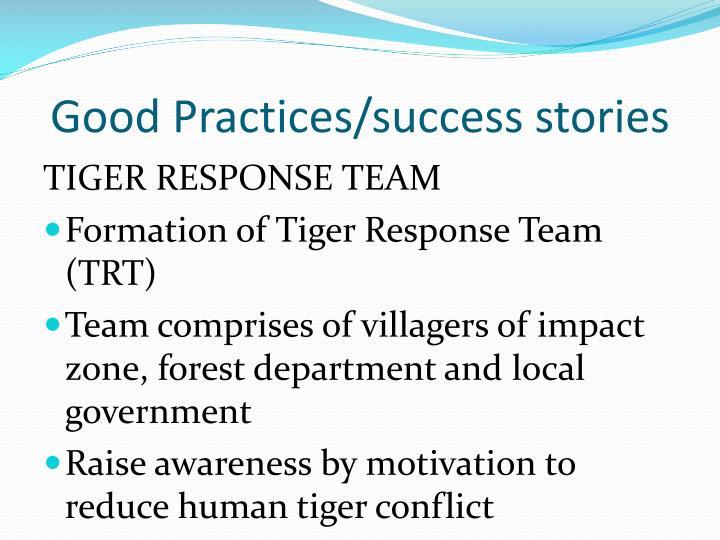Good Practices/success stories