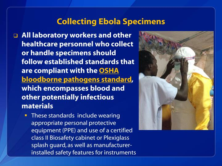 Collecting Ebola Specimens