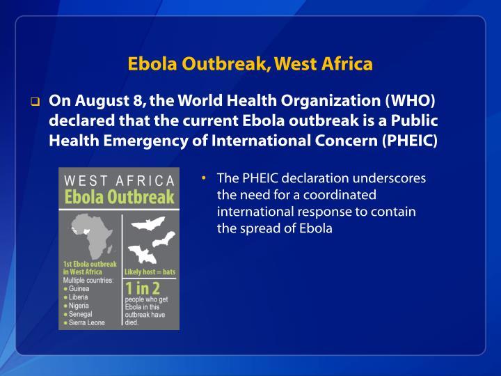 Ebola Outbreak, West Africa
