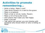 activities to promote remembering