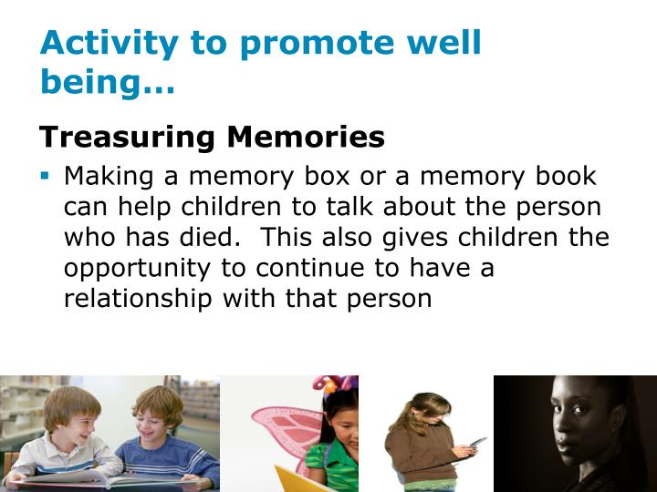 Activity to promote well being…
