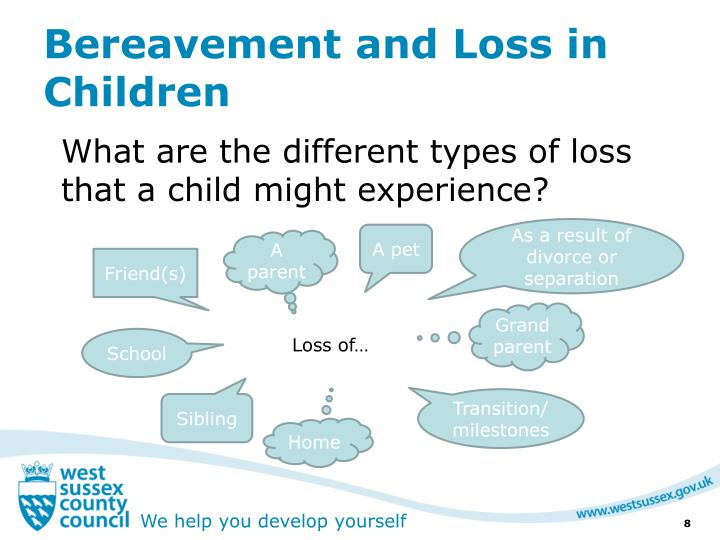 Bereavement and Loss in Children