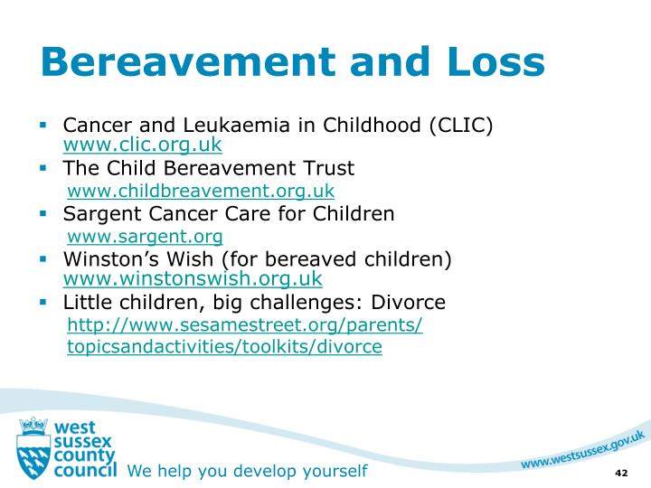 Bereavement and Loss