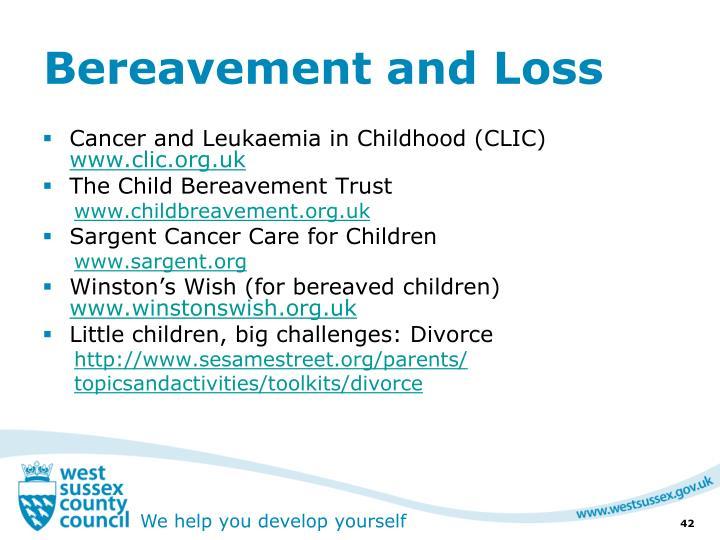 Bereavement and Loss