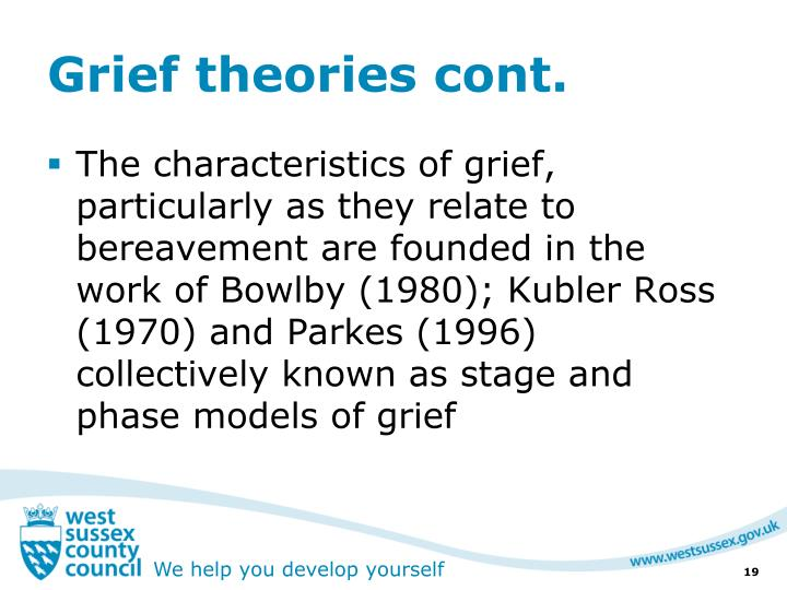Grief theories cont.
