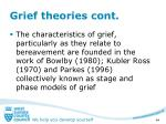 grief theories cont