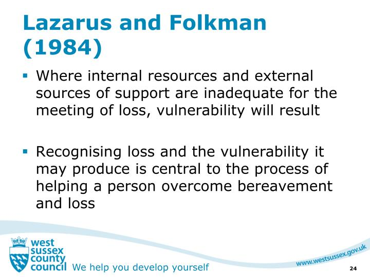 Lazarus and Folkman (1984)