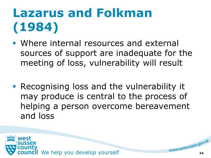 Lazarus and Folkman (1984)