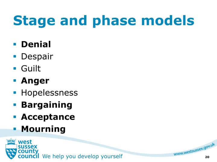 Stage and phase models