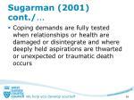 sugarman 2001 cont