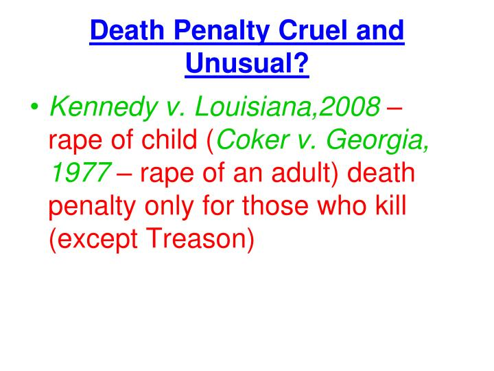 the death penalty cruel and unusual essay The death penalty is cruel but so is life without parole of the death penalty and the question of cruel and unusual punishment in the death.