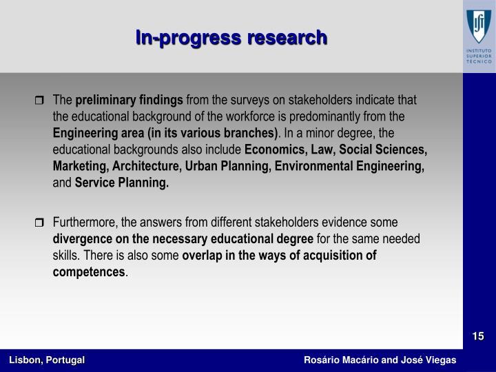 In-progress research