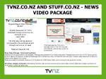 tvnz co nz and stuff co nz news video package