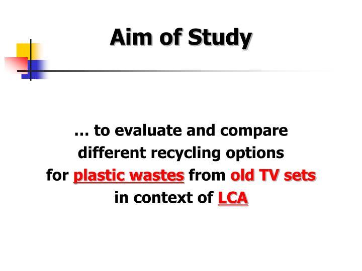 Aim of Study