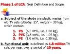 phase 1 of lca goal definition and scope