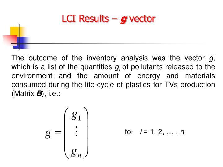 LCI Results –