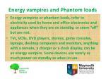 energy vampires and phantom loads