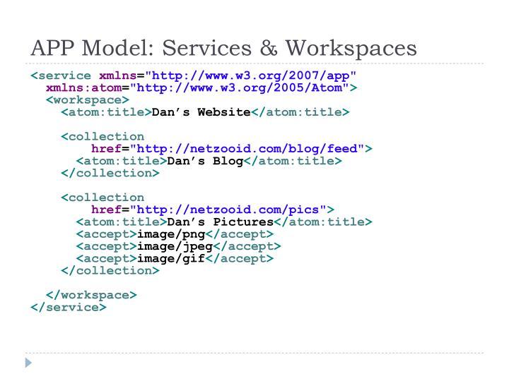 APP Model: Services & Workspaces