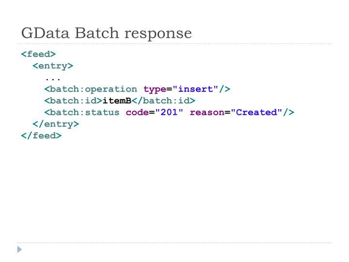 GData Batch response
