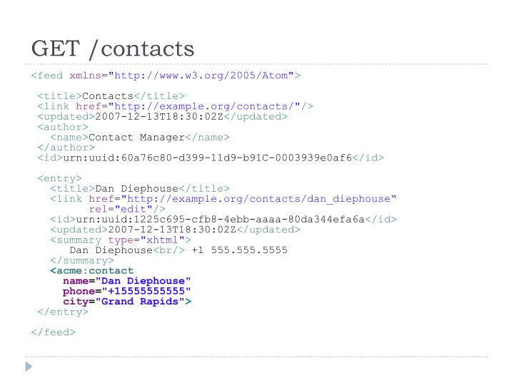 GET /contacts