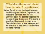 what does this reveal about this character significance
