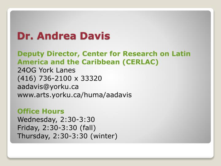 Deputy Director, Center for Research on Latin