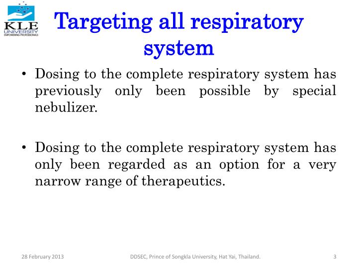 Targeting all respiratory system