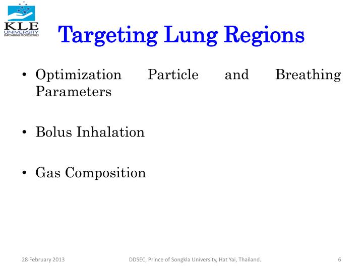 Targeting Lung Regions