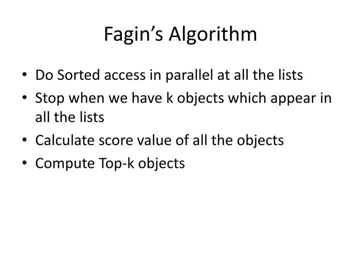 Fagin's Algorithm