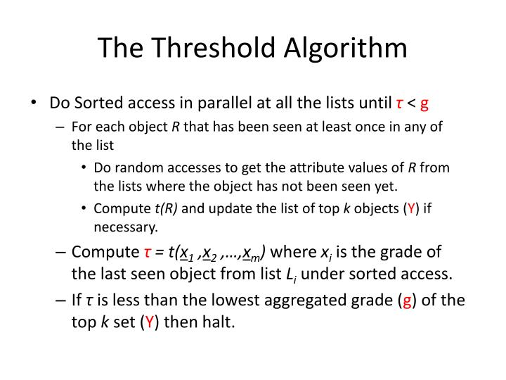 The Threshold Algorithm