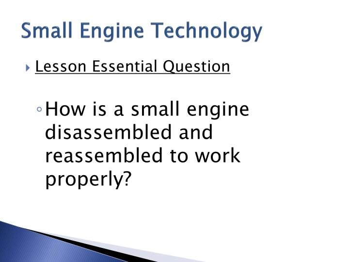 Small Engine Technology