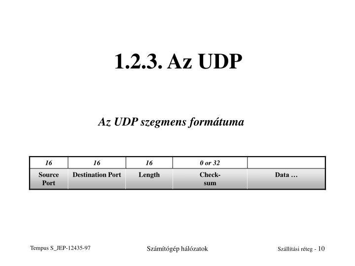 1.2.3. Az UDP