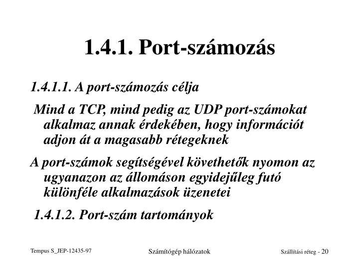 1.4.1. Port-számozás