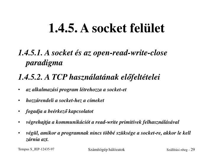 1.4.5. A socket felület