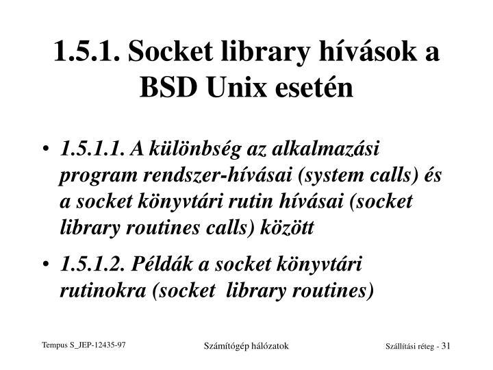 1.5.1. Socket library hívások a BSD Unix esetén