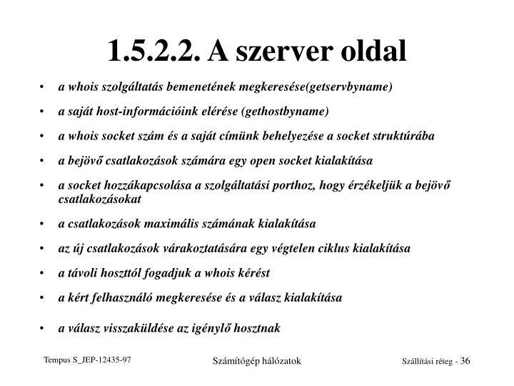 1.5.2.2. A szerver oldal